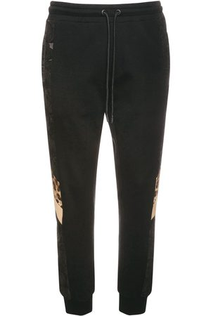 Dolce & Gabbana Men Sports Trousers - Logo & Leopard Cotton Sweatpants