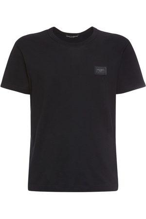 Dolce & Gabbana Men T-shirts - Cotton T-shirt W/ D&g Plaque
