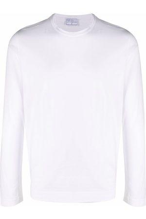 FEDELI Men Long Sleeve - Longsleeved crewneck cotton T-shirt