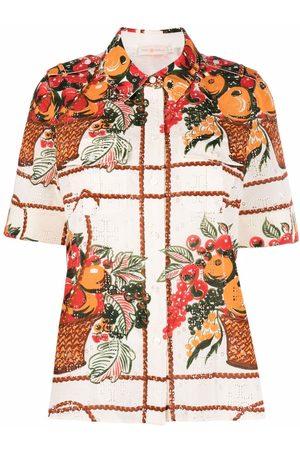 Tory Burch Fruit Basket camp shirt