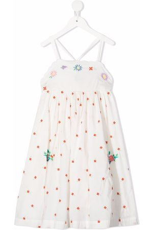 Stella McCartney Floral-embroidered pinafore dress