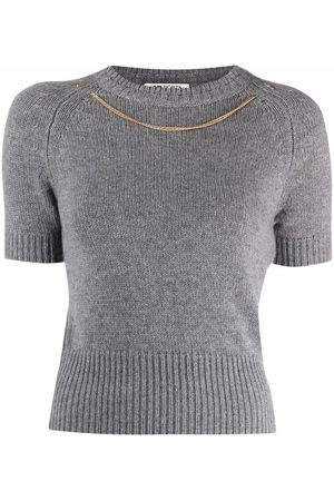 PORTS 1961 Chain-necklace shortsleeved jumper
