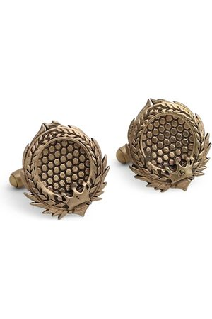 COSA NOSTRAA Antique Gold-Toned The Thrones Textured Cufflinks