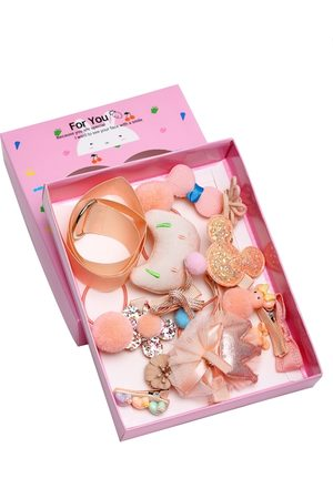 YouBella Peach-Coloured Embellished Hair Accessory Set
