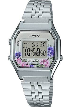 Casio Unisex Silver-Toned Digital Watch D204