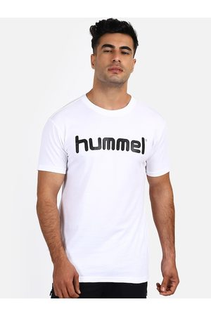 Hummel Men White Printed Round Neck T-shirt
