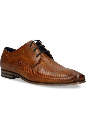 Bugatti Men Tan Brown Textured Leather Formal Derbys