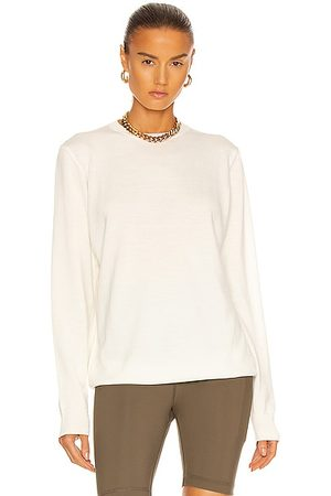 WARDROBE.NYC Women Jumpers - Crew Sweater in Off