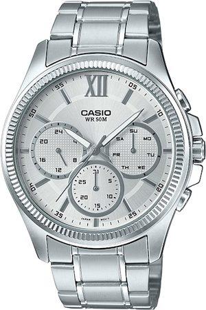 Casio Men Watches - Enticer Men Silver-Toned Analogue Watch A1774 MTP-E315HD-7AVIF