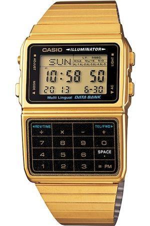 Casio Unisex Black & Gold Toned Digital Watch D211