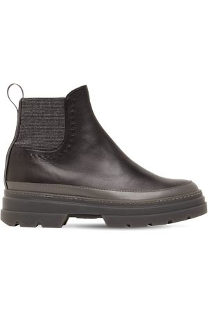 Max Mara 20mm Atwood Leather Ankle Boots