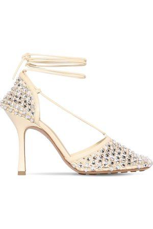 Bottega Veneta 90mm Sparkle Stretch Sandals