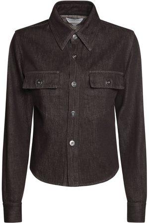 Bottega Veneta Truffle Cotton Denim Shirt
