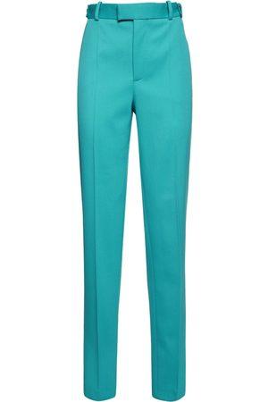 Bottega Veneta Stretch Knotted Herringbone Pants