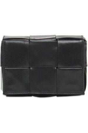 Bottega Veneta Intreccio Leather Card Case W/strap