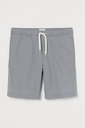 H&M Men Shorts - Linen-blend shorts - Grey