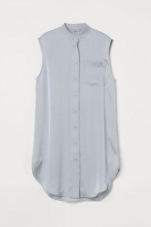 H&M Oversized satin tunic - Grey