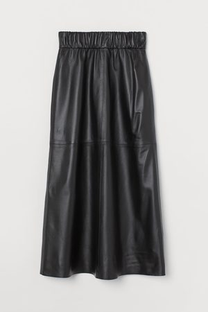 H&M A-line leather skirt