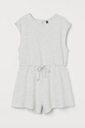 H&M Drawstring playsuit - Grey