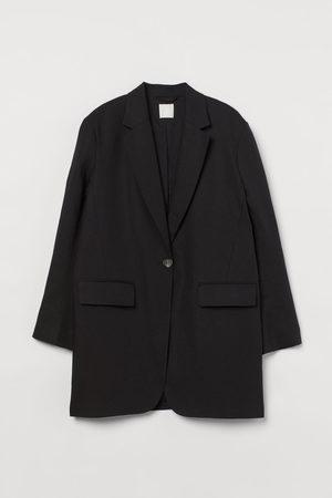 H&M Oversized linen-blend jacket