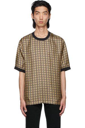 Fendi Gold Silk 'Forever Fendi' Print T-Shirt