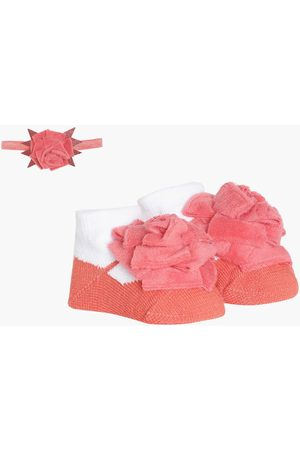 MINI KLUB FS Girls Floral Accent Booties with Hairband
