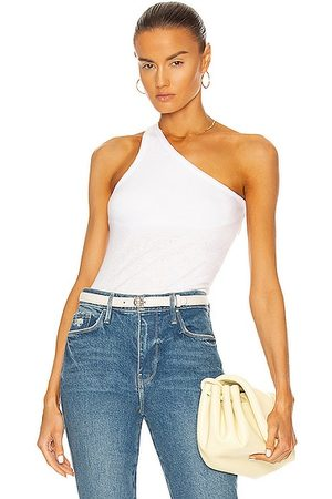 ENZA COSTA Recycled Rib One Shoulder Tank in