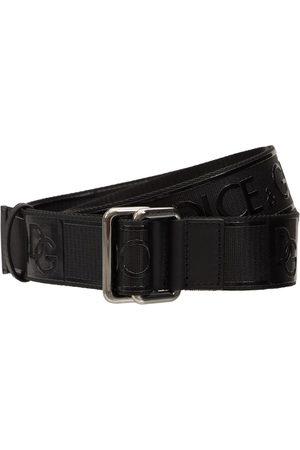 Dolce & Gabbana Men Belts - 3.5cm Rubberized Logo Webbing Belt