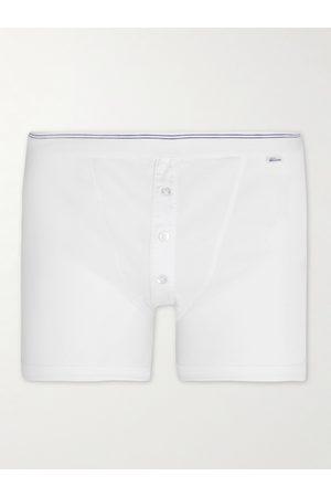 Schiesser Men Briefs - Friedrich Ribbed Cotton-Jersey Boxer Briefs
