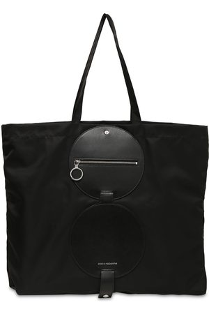 Paco rabanne Nylon Tote Bag W/ Leather Details