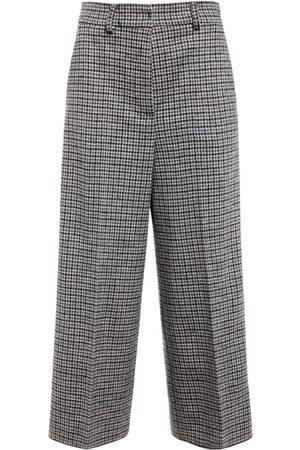 Max Mara Wool Jersey Wide Leg Cropped Pants