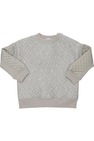 Burberry All Over Logo Cotton Sweatshirt