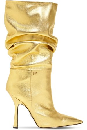 Dsquared2 Women Boots - 100mm Metallic Leather Boots