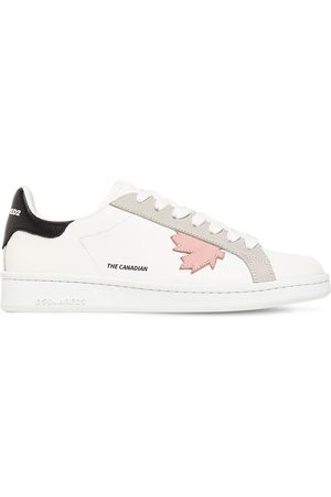 Dsquared2 Women Sneakers - 20mm Leather Low Top Sneakers