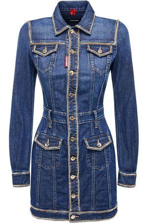 Dsquared2 Stretch Cotton Mini Dress