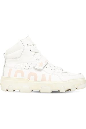 Dsquared2 30mm Icon Basket Leather Sneakers