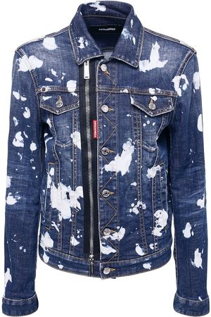 Dsquared2 Wash Pattern Stretch Cotton Jacket