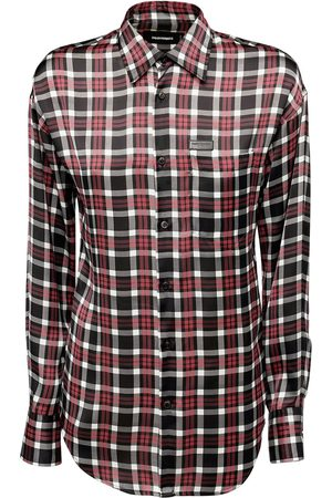 Dsquared2 Printed Check Twill Shirt