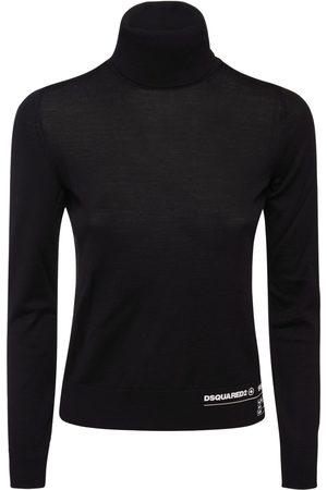 Dsquared2 Turtleneck Wool Knit Sweater
