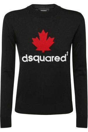Dsquared2 Mini D2leaf Logo Wool Knit Sweater