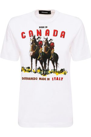 Dsquared2 Canada Renny Print Cotton Jersey T-shirt