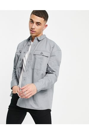 New Look Relaxed fit overshirt in washed