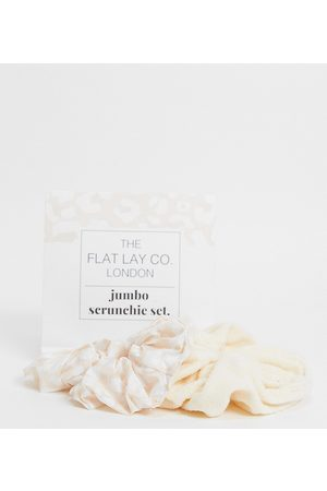 Flat Lay Company The Flat Lay Co. X ASOS Exclusive Neutral Jumbo Scrunchie Set