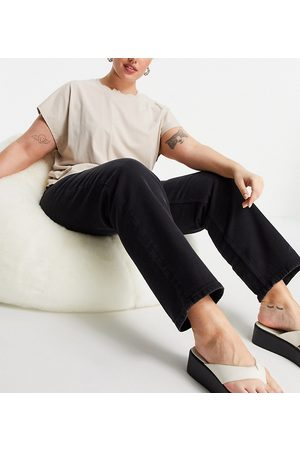 Dr Denim Li straight leg mid rise jeans in washed