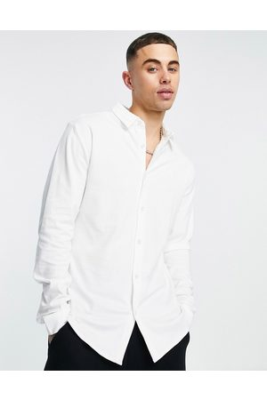 River Island Long sleeve jersey fit shirt in
