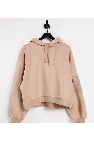 Dr Denim Cropped hoodie in warm clay