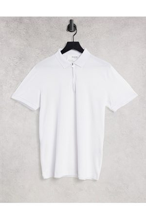 SELECTED Jersey zip polo in