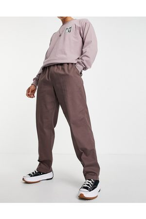 Obey Easy twill tapered trousers in purple