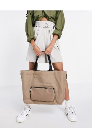 French Connection Women Tote Bags - Large tote bag in walnut