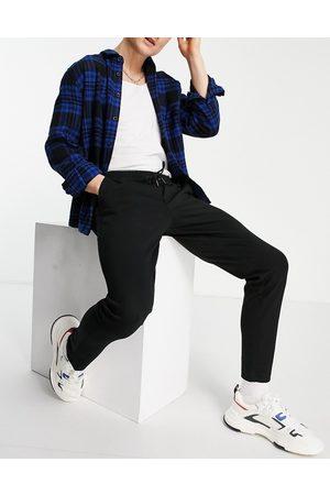 JACK & JONES Intelligence tailored jersey trouser with drawstring waist in